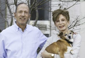 Andy and Teri G. with Tux, adopted from Peace of Mind Dog Rescue