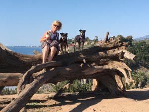 Sasha (19 y/o) Jordan (13 y/o) and Lucas (9 y/o); Douglas Preserve in Santa Barbara 2017. (Ages were in 2017!)